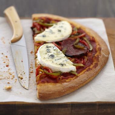 Pizza pepperoni au Bleu