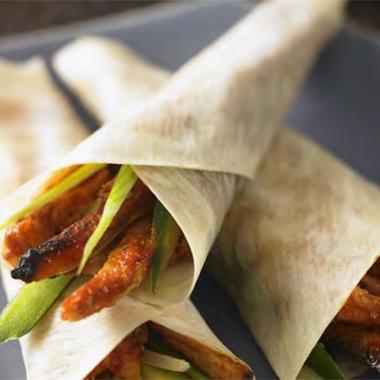 Galettes de riz au porc et légumes