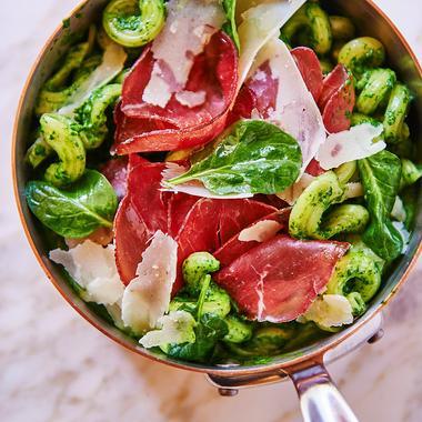 Pasta bresaola et spinaci