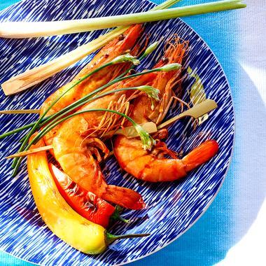 Brochettes de crevettes thaïes