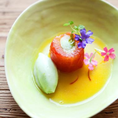 Tomates et concombre du potager par Nicolas Masse