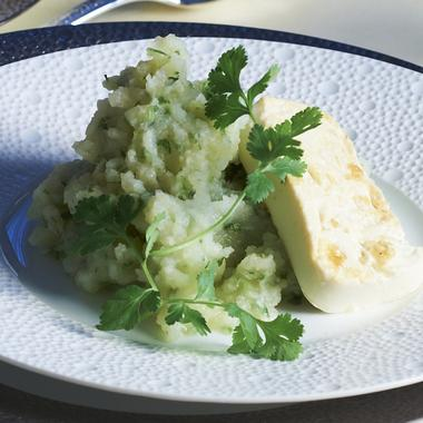 Purée de céleris et tofu grillé