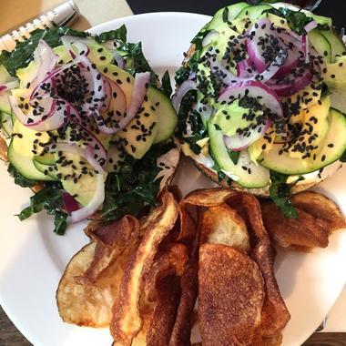 Le bagel végétarien de Carrie Solomon