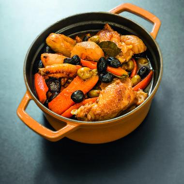 Poulet aux olives par Gérald Passedat
