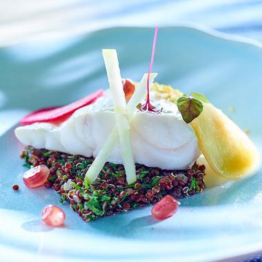 Bar vapeur et salade de quinoa