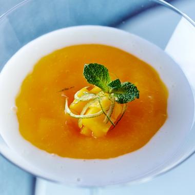 Riz gluant à la crème de noix de coco et mangue fraîche