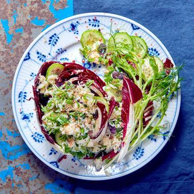Cœurs de salade au crabe