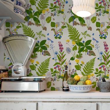 Faut il oser le papier peint en cuisine madame figaro for Modele papier peint cuisine