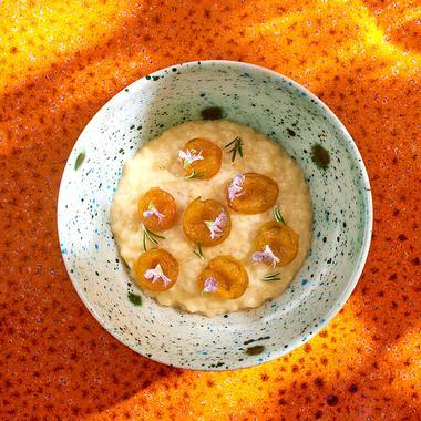 Riz au lait aux prunes