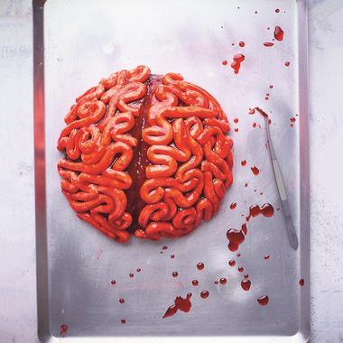Gâteau cervelle red velvet pour Halloween