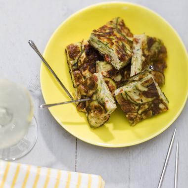 Tortilla courgettes et tomates