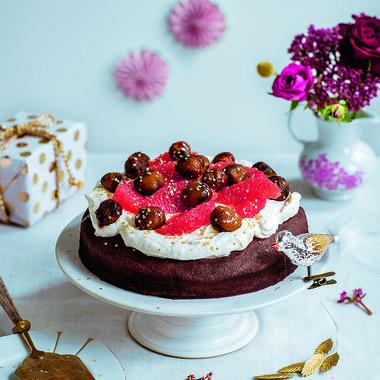 Gâteau au chocolat végan, aux marrons et coco