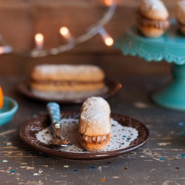 Éclairs praliné-clémentine et chocolat façon bûchettes