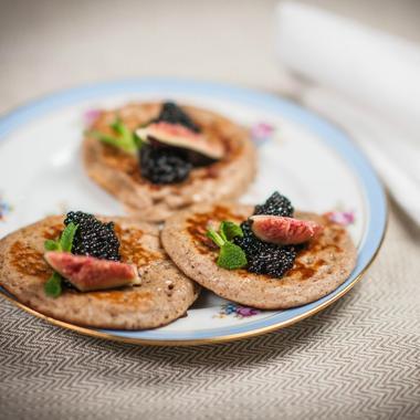 Pancake et caviar