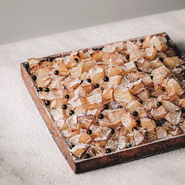 Tarte aux poires et pépites de chocolat