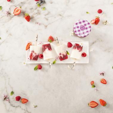 Glaces façon esquimaux aux fruits rouges
