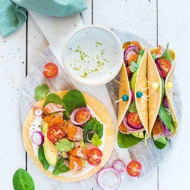 Tacos au thon sauce escabèche