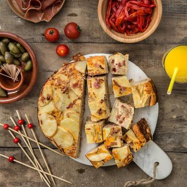 Tortilla espagnole au jambon cru