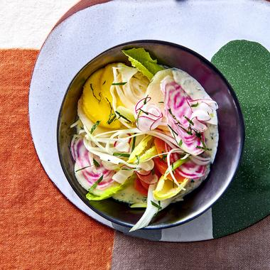 Légumes d'hiver et tofu herbacé