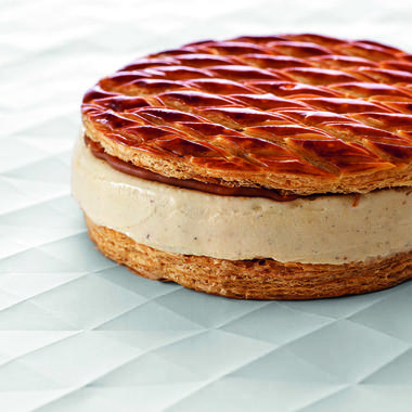 Galette glacée vanille caramel