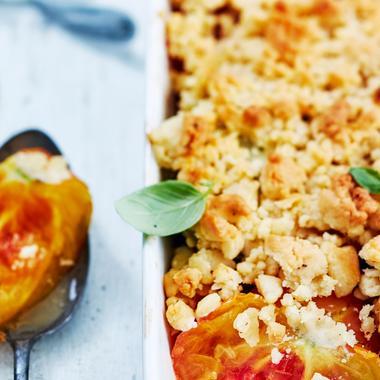 Crumble tomates et piment d'Espelette