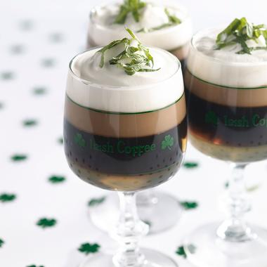 Irish coffee à la menthe