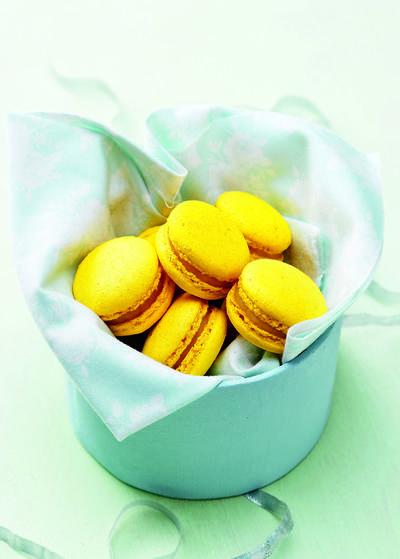 Macarons citron romarin