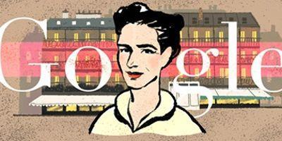 Un Doodle célèbre le 106e anniversaire de la naissance de Simone de Beauvoir.