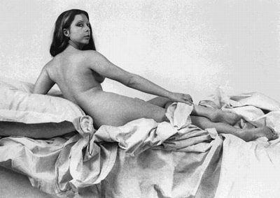 Orlan en Grande Odalisque d'Ingres, photographie, Orlan, 1977.