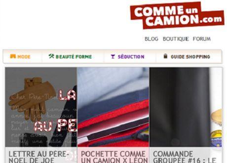Capture d'écran de la page d'accueil (Crédit: Comme un camion)