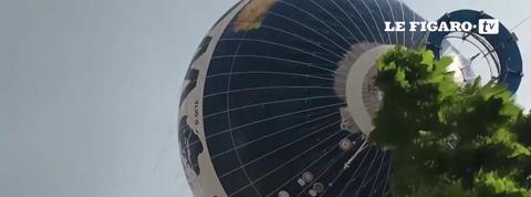 Une montgolfière à la dérive en plein Berlin