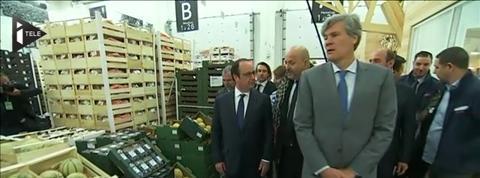 François Hollande a inauguré la Halle bio de Rungis
