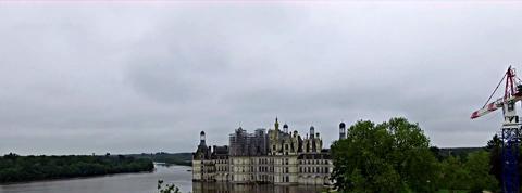 Le château de Chambord sous les eaux