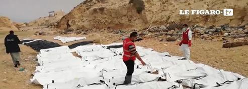 Les corps de 74 migrants retrouvés morts sur un plage en Libye