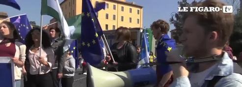 Les défenseurs de l'Europe s'organisent en Italie en marge du traité de Rome