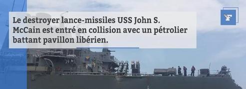 10 marins d'un destroyer américain portés disparus après une collision en mer