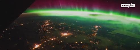 Une aurore boréale vue depuis la station spatiale internationale