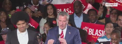 Le maire démocrate de New York réélu