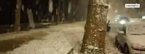 Les images de la neige à Paris