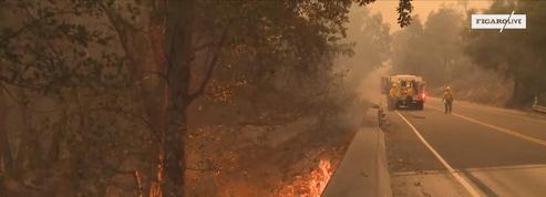Un incendie encore très actif en Californie