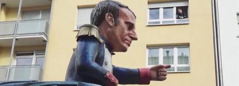 Merkel, Macron, Trump moqués par les chars du carnaval à Mayence