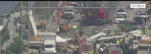 Au moins 4 morts dans l'effondrement d'un pont sur une autoroute à Miami