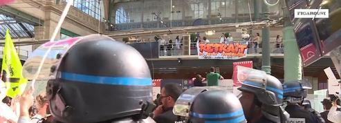 Opération coup de poing des cheminots de Sud Rail dans plusieurs gares parisiennes