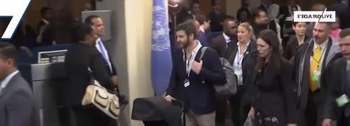 La Première ministre néo-zélandaise à l'ONU avec son bébé
