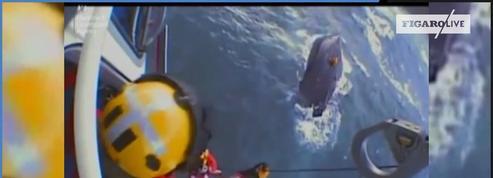 Les images impressionnantes d'un sauvetage dans la Manche