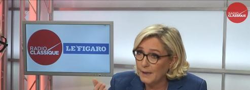 Marine Lepen est l'invitée de la matinale Radio Classique – Le Figaro