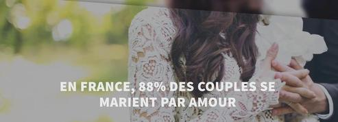 En France, 88% des couples se marient par amour
