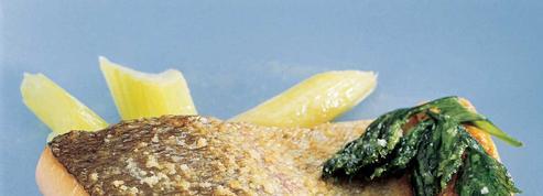 Dos de truite de mer rôtie au camembert