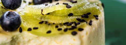 Cheesecake au kiwi et myrtilles