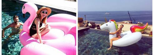 Bouée licorne, donut, homard : l'accessoire gonflant des célébrités
